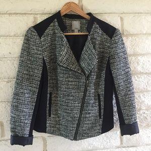 Halogen Cropped Boucle Jacket